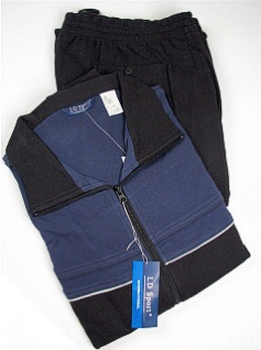 #186618. 4XL TALL. CADET Retail $  90.00 Jog Set by LD SPORT. COT/PLY JOG SUIT PIPG Whs:  5,FW:  1,
