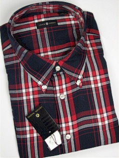 #002389. 4XL BIG. NAVY Retail $  48.00 Long Sleeve Cotton by CTTON TRADERS. WRINKLE RESIST B.D. Whs A:  1