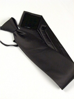 #300700.  . CHARCOAL Retail $  28.50 Extra Long Ties by FX DESIGN. SOLID XLONG ZIP FW:  1
