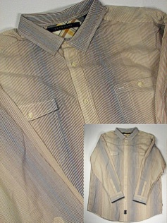 #050823. 4XL BIG. KELP Retail $  78.00 Long Sleeve Cotton by SEAN JOHN. STRIPE 2 POCKET Whs A:  1