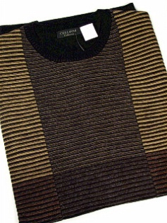 #049708. 4XL TALL. BLACK Retail $  85.00 Sweaters by CELLINI. CREW BOX TEXTURE Whs A:  1