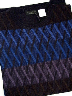 #296876. 3XL TALL. ROYAL Retail $  85.00 Sweaters by CELLINI. CREWNECK DIAMOND Whs A:  4