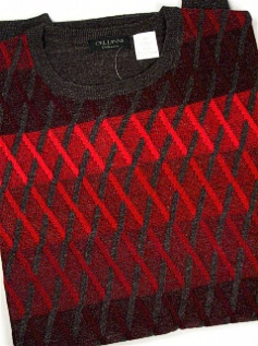 #210924. 3XL TALL. RED Retail $  85.00 Sweaters by CELLINI. CREWNECK DIAMOND Whs A:  2
