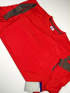 #141581. 3XL BIG. RED/GREY Retail $  34.00 Dri Power Crew by RUSSELL. DRI-POWER PCD CREW Whs:  1,
