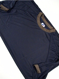 #241096. 2XL BIG. NVY/GREY Retail $  34.00 Dri Power Crew by RUSSELL. DRI-POWER RINGER TEE Whs A:  2