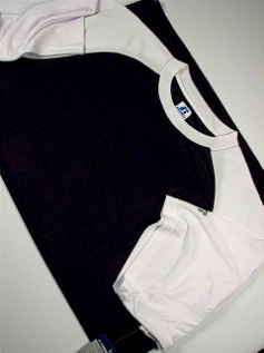 #266404. 2XL TALL. BLK/WHT Retail $  34.00 Dri Power Crew by RUSSELL. DRI-POWER RAGLAN CREW Whs A:  3