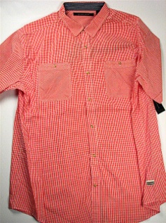 #270218. 6XL BIG. RED Retail $  68.00 Short Sleeve Updated by SEAN JOHN. 2-POCKET GINGHAM Whs A:  1