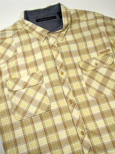 #202750. 5XL TALL. KELP Retail $  68.00 Short Sleeve Updated by SEAN JOHN. 2-POCKET TONAL CHECK FW:  1,