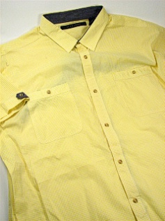 #240389. 3XL TALL. YELLOW Retail $  68.00 Short Sleeve Updated by SEAN JOHN. 2-POCKET GINGHAM Whs A:  2
