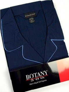 #094670. 3XL BIG. NAVY Retail $  34.00 Pajamas by BOTANY 500. LONG SLV PANT SOLID Whs A:  5