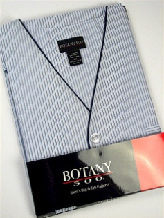 #108050. 3XL BIG. BLUE Retail $  33.00 Pajamas by BOTANY 500. SHORT SLV KNEE STRIPE Whs A:  2