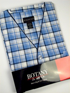 #326375. 4XL BIG. BLUE Retail $  33.00 Pajamas by BOTANY 500. SHORT SLV KNEE PLAID Whs A:  2