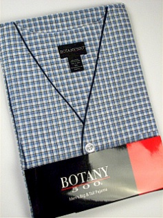 #341116. 5XL BIG. BLUE Retail $  33.00 Pajamas by BOTANY 500. SHORT SLV CHECK Whs A:  4