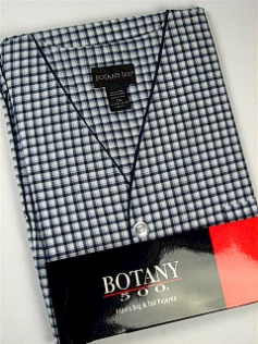 #152965. 4XL BIG. NAVY Retail $  33.00 Pajamas by BOTANY 500. SHORT SLV CHECK Whs A:  1 FW:  1