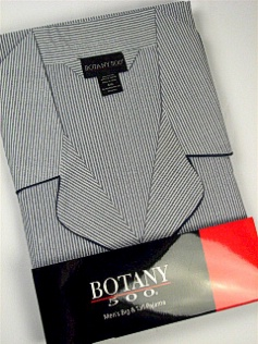#089106. 3XL BIG. NAVY Retail $  34.00 Pajamas by BOTANY 500. LONG SLV PANT STRIPE Whs A:  2 FW:  1