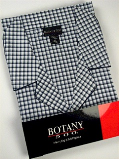 #150510. 2XL BIG. NAVY Retail $  34.00 Pajamas by BOTANY 500. LONG SLV PANT CHECK Whs A:  1