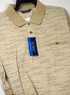 #325194. 3XL TALL. SAND Retail $  46.00 Short Sleeve by LD SPORT. KC HORIZ JACQUARD Whs:  4,FW:  1,
