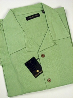 #168234. 4XL TALL. LIME Retail $  75.00 Short Sleeve Updated by CTTON TRADERS. SILK SOLID EMBROIDER Whs:  1,FW:  1,