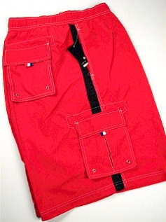 #083050. 5XL BIG. RED Retail $  48.00 Swim Wear by CTTON TRADERS. CARGO TRUNK Whs A:  1