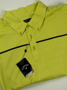 #220938. 3XL BIG. LIME Retail $  85.00 Short Sleeve Stay Dry by CALLAWAY GOLF. ENGINEER POLO Whs A:  1