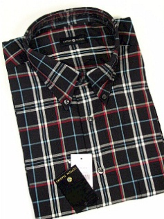 #219853. 4XL TALL. BLACK Retail $  48.00 Short Sleeve by CTTON TRADERS. WRINKLE RESIST PLAID Whs:  1,FW:  1,