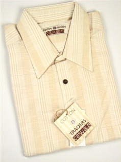 #191854. 4XL BIG. KHAKI Retail $  48.00 Short Sleeve Updated by CTTON TRADERS. CT CASUAL LINEN STRIP FW:  1,