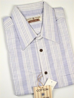 #224350. 3XL BIG. LILAC Retail $  48.00 Short Sleeve Updated by CTTON TRADERS. CT CASUAL LINEN STRIP Whs:  1,FW:  1,