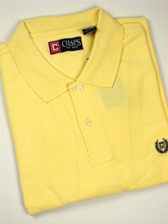 #003692. XL TALL. YELLOW Retail $  47.50 Short Sleeve by CHAPS. SOLID PIQUE POLO Whs:  1,