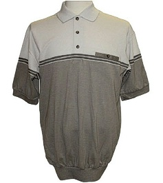 #170057. XL TALL. NATURAL Retail $  46.00 Short Sleeve by LD SPORT. KC KNIT 2-COLOR SOLID Whs A:  1