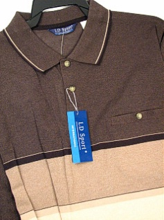 #170284. XL TALL. BROWN Retail $  46.00 Short Sleeve by LD SPORT. KC ENGINEER JERSEY Whs A:  6