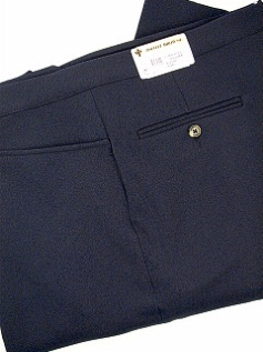 #306089. 64 REG. NAVY Retail $ 105.00 Dress Pants by ASCOTT BROWNE. BELT-LESS PLY TOP PKT Whs:  1,  <br><b>This item requires hemming.