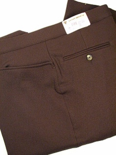 #120117. 48 LONG. BROWN Retail $  95.00 Dress Pants by ASCOTT BROWNE. BELT-LESS PLY TOP PKT Whs:  1,  <br><b>This item requires hemming.
