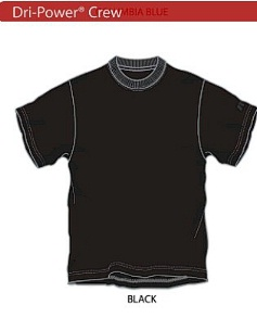 #011253. 2XL BIG. BLACK Retail $  30.00 Dri Power Crew by RUSSELL. DRI-POWER LT WT CREW Whs A:  2
