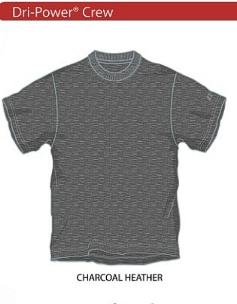 #179443. 2XL BIG. CHARCOAL Retail $  30.00 Dri Power Crew by RUSSELL. DRI-POWER LT WT CREW Whs A:  1