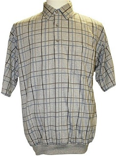 #271341. 5XL TALL. TAUPE Retail $  49.00 Short Sleeve by LD SPORT. TC WINDOWPANE Whs A:  1