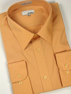 #193993. 20.0 36-37 Tall. PEACH Retail $  40.00 Dress Long Sleeves by MODENA. POINT BLEND BROADCLTH FW:  1