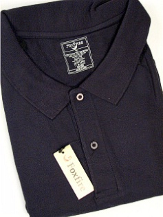 #272302. 8XL TALL. NAVY Retail $  48.00 Short Sleeve Pocket by FOXFIRE. POCKET PIQUE Whs A:  1