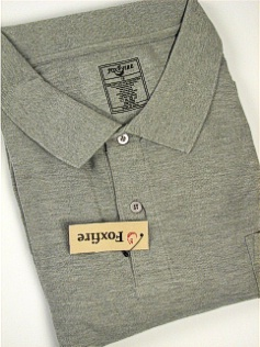 #156789. 7XL BIG. GREY Retail $  48.00 Short Sleeve Pocket by FOXFIRE. POCKET PIQUE Whs A:  1