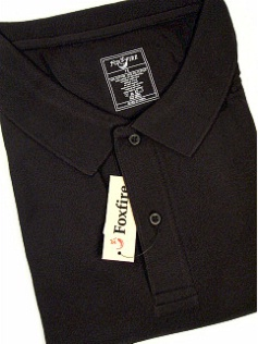 #272319. 8XL TALL. BLACK Retail $  48.00 Short Sleeve Pocket by FOXFIRE. POCKET PIQUE Whs A:  1