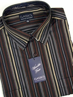 #288176. 6XL BIG. BLACK Retail $  42.00 Long Sleeve 2-pkt by FALCON BAY. 2-POCKET TWILL STRIPE Whs A:  1