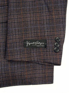 #056221. 56 P-LG. BROWN Retail $ 229.00 Sportcoats by ZEGNORELLI. BLUE PLAID FW:  1,