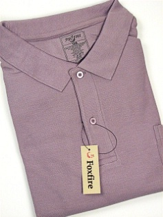 #207353. 6XL BIG. LILAC Retail $  38.00 Short Sleeve Pocket by FOXFIRE. POCKET PIQUE Whs A:  1