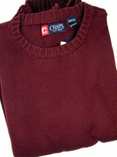 #153108. 2XL TALL. BURGUNDY Retail $  72.00 Sweaters by CHAPS. COTTON CREW NECK Whs A:  1