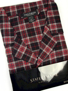 #219042. 3XL BIG. BLACK Retail $  45.00 Pajamas by STATE-O-MAINE. FLANNEL PLAID PAJAMA Whs B:  1 Whs A: 10 FW:  1