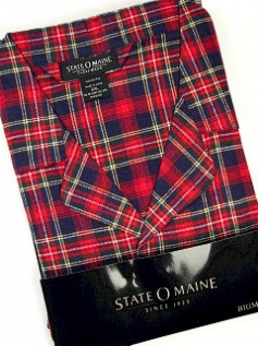 #360850. 3XL BIG. RED Retail $  45.00 Pajamas by STATE-O-MAINE. FLANNEL PLAID PAJAMA Whs A:  6