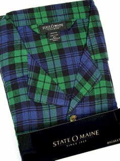 #077068. 3XL TALL. NAVY Retail $  45.00 Pajamas by STATE-O-MAINE. FLANNEL PLAID PAJAMA Whs A:  3