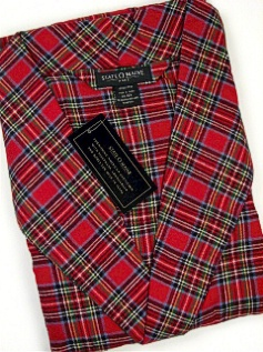 #133922. 2XL BIG. RED Retail $  45.00 Robes by STATE-O-MAINE. FLANNEL KIMONO Whs:  7,