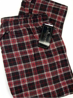 #008040. XL TALL. BLACK Retail $  29.00 Flannel Loungepants by STATE-O-MAINE. FLANNEL PANT Whs A: 10