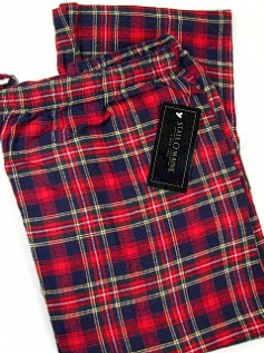 #039891. XL TALL. RED Retail $  29.00 Flannel Loungepants by STATE-O-MAINE. FLANNEL PANT Whs: 17,