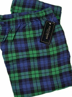#135092. 2XL BIG. NAVY Retail $  29.00 Flannel Loungepants by STATE-O-MAINE. FLANNEL PANT Whs A:  4